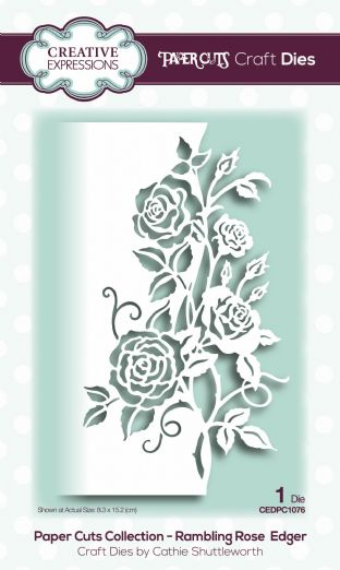 Paper Cuts Collection - Rambling Rose Edger Craft Die